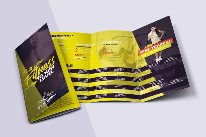 Thumbnail for Gym Trifold Brochure