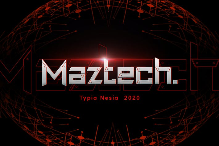 Thumbnail for Maztech - Military Technology Font