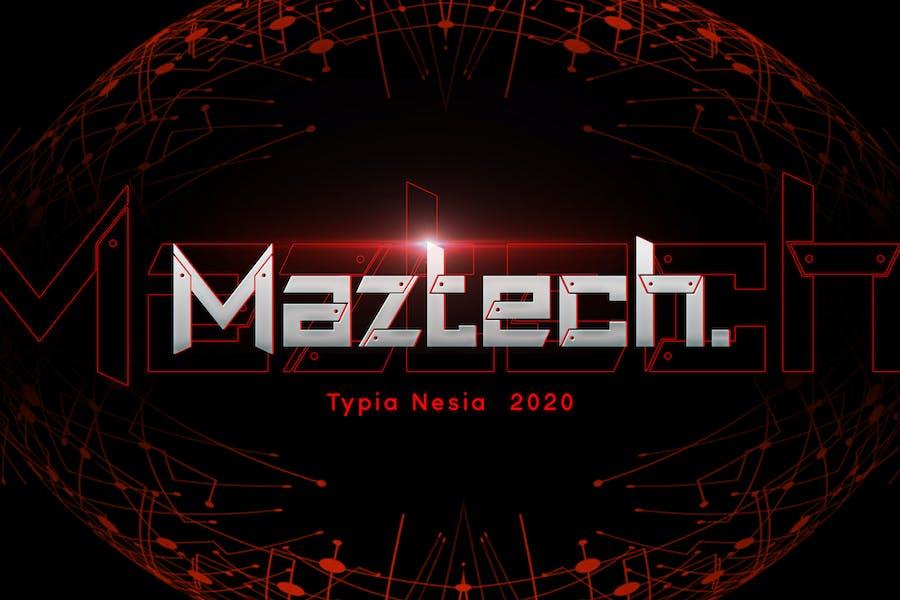 Maztech - Military Technology Font