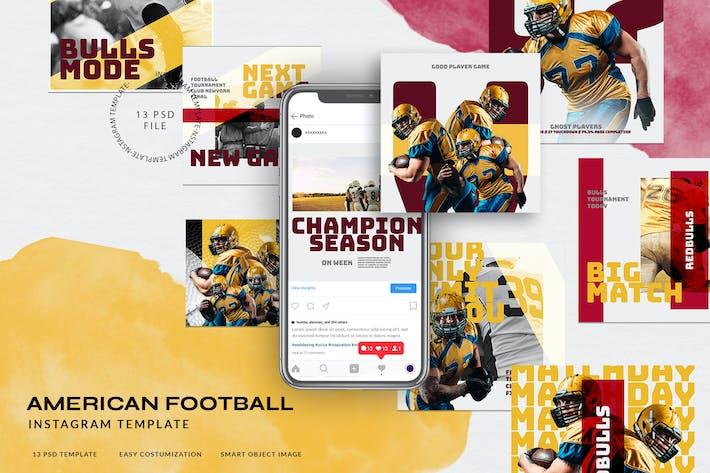 Thumbnail for Histoires Instagram Sport pour Football Américain V.02