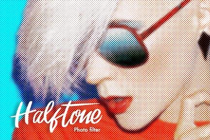 Halftone Photoshop Actions