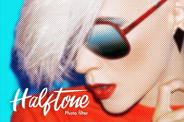 Thumbnail for Halftone Photoshop Actions