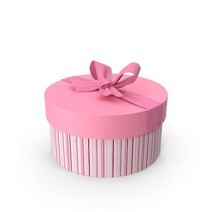 Круглая розовая подарочная коробка