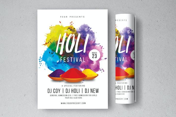 Thumbnail for Holi Festival Flyer