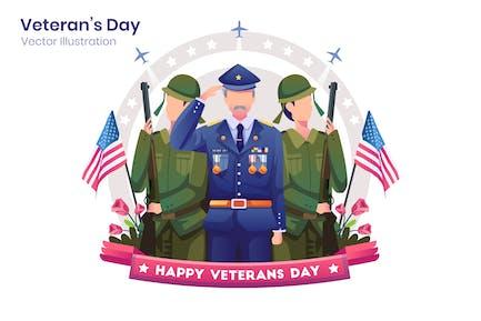 Veterans Day Flat Illustration - Agnytemp