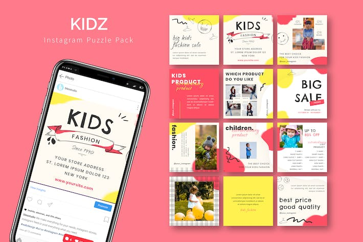 Thumbnail for Kidz - Instagram Puzzle Template
