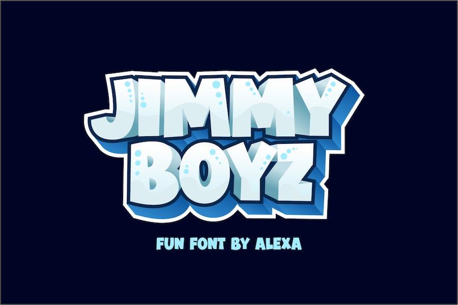 JIMMY BOYZ - Bold and FUN font