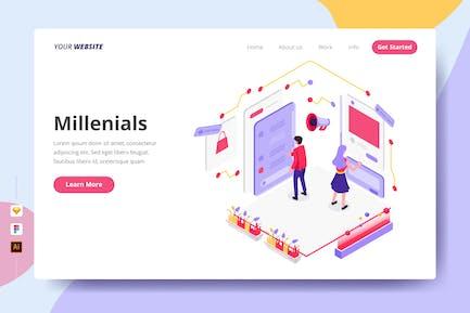 Millenials - Landing Page