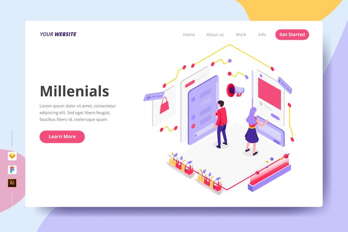 Thumbnail for Millenials - Landing Page