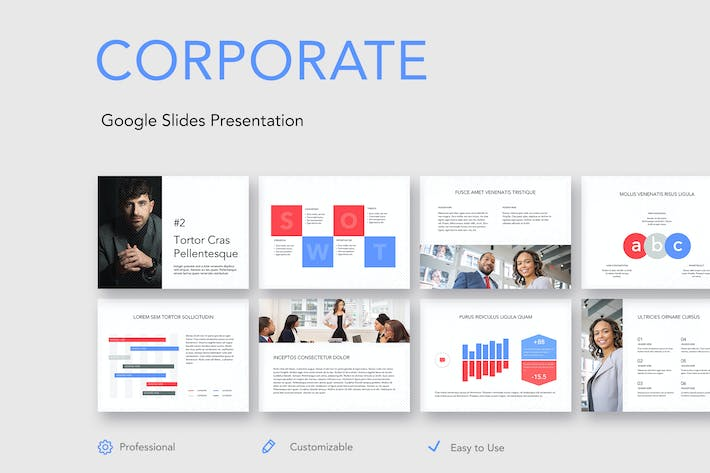 Thumbnail for Corporate Google Slides Template