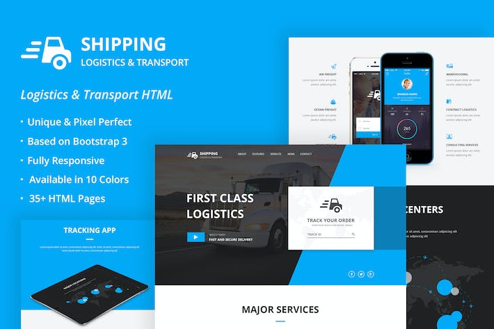 Thumbnail for Shipping - Logistics & Transport HTML Template