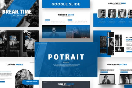 Potrait - Business Google Slide Template