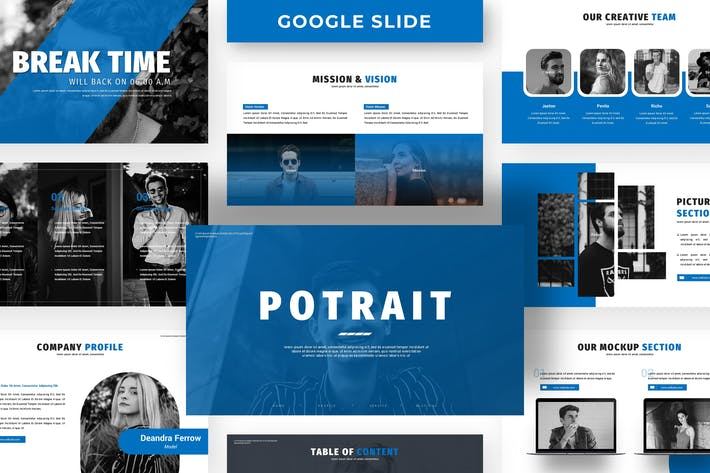 Thumbnail for Potrait - Business Google Slide Template
