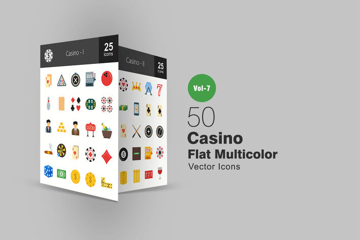 Thumbnail for 50 Casino Flat Multicolor Icons