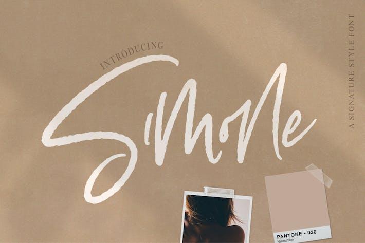 Thumbnail for Simone Script Font