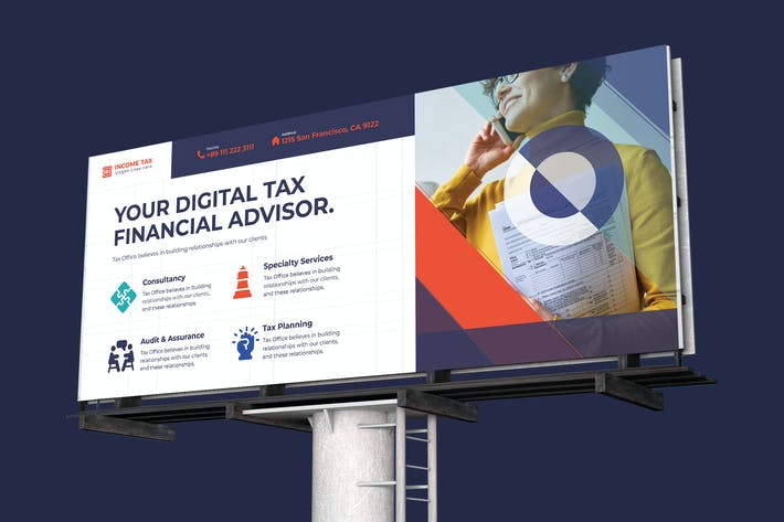 Thumbnail for Income Tax Billboard PSD Template