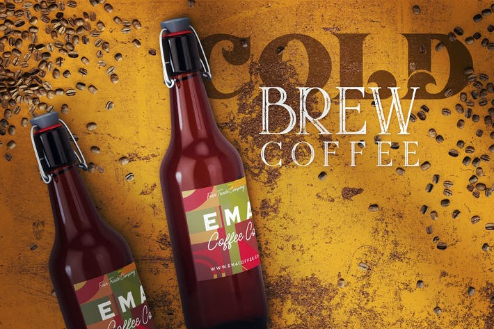 Thumbnail for Cold Brew Coffee Bottle Mock-up 3