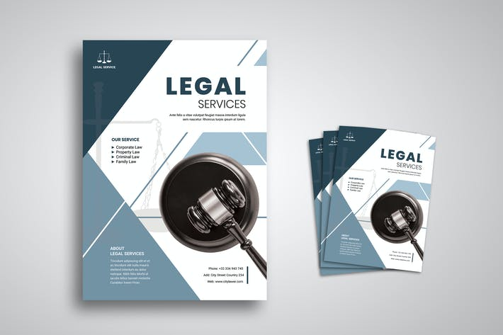 Cover Image For Legal Flyer Promo Template