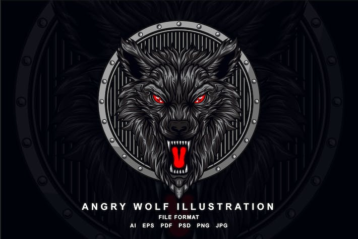 Thumbnail for Angry Wolf Illustration