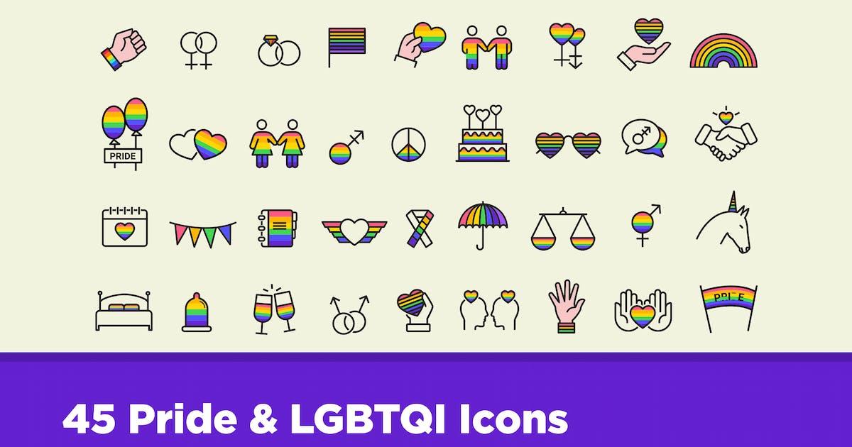 Download 45 Pride & LGBTQI Icons by creativevip