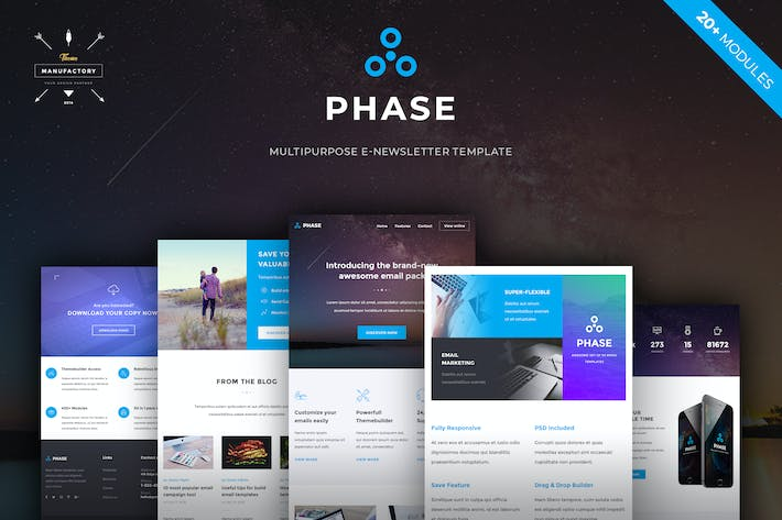 Thumbnail for Phase - Multipurpose E-newsletter Template