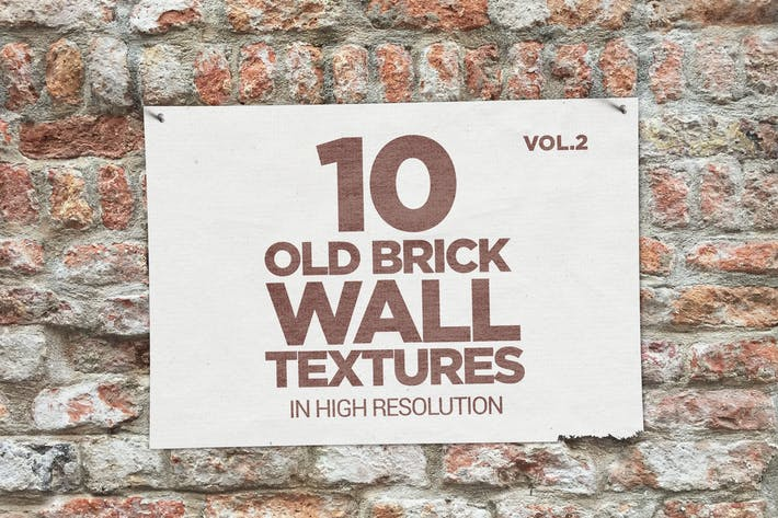 Thumbnail for Old Brick Wall Textures x10 vol2