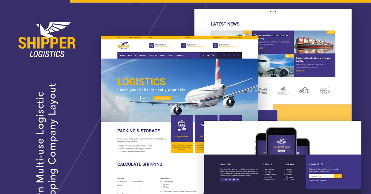 Download Shipper Logistic - Transportation HTML Template by themezinho