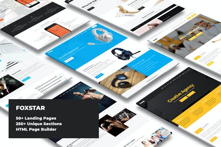 Foxstar - Landing Pages Pack With Page Builder
