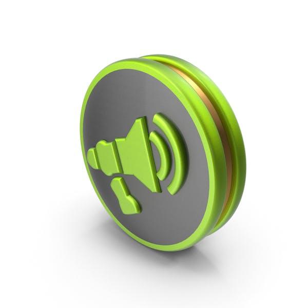 Grüne Ankündigung-Symbol
