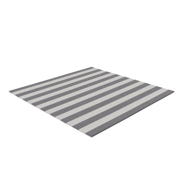 Thumbnail for Striped Square Dhurrie Rug