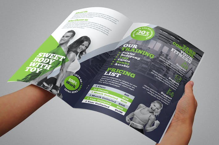 Thumbnail for Fitness Bifold Brochure