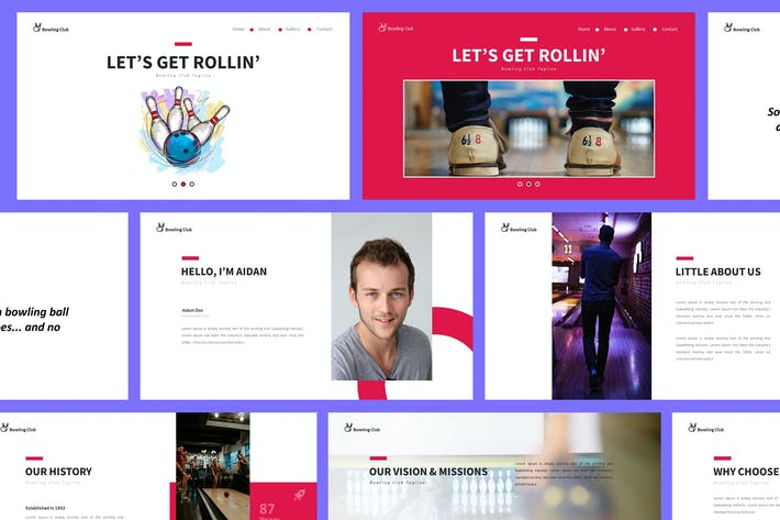 Thumbnail for Шаблон презентации Powerpoint для боулинга