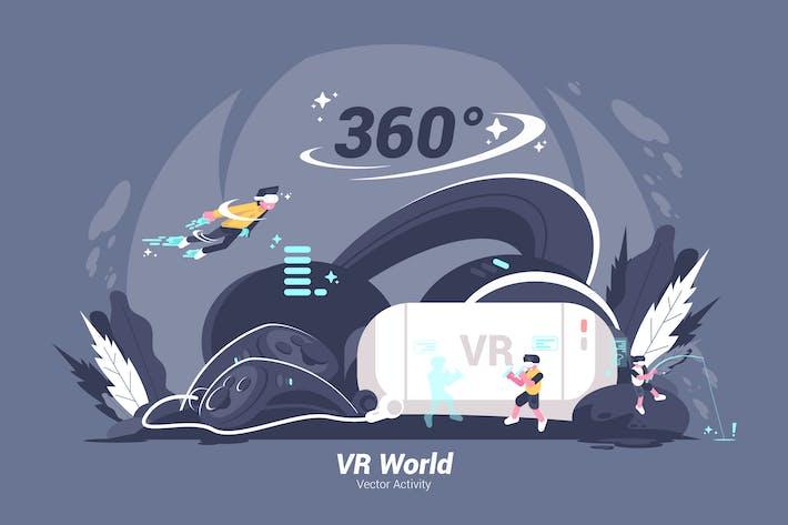 Cover Image For VR World - Vector Illustration