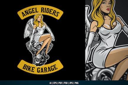 Vintage Garage Design With Beautiful Angel