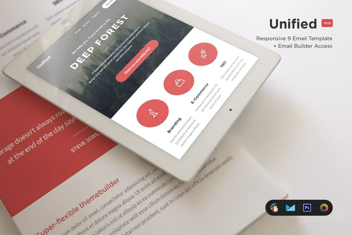Cover Image For Unified - E-Newsletter Template
