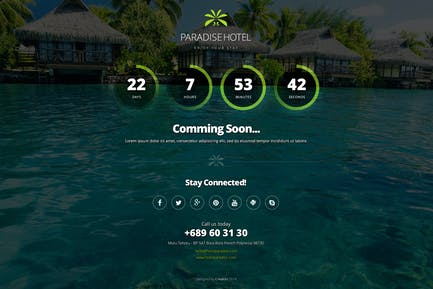 Paradise Hotel Coming Soon & 404 Error Page
