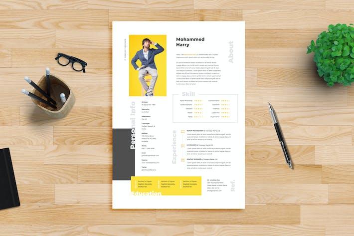 Thumbnail for Resume CV Template 12