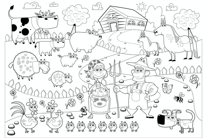 Farm Family in Black and White