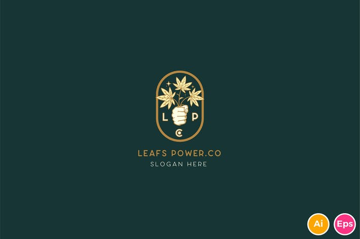 Thumbnail for Leafs Power Logo Template
