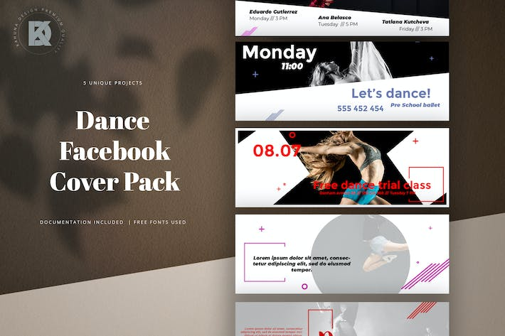 Thumbnail for Dance Facebook Cover Pack