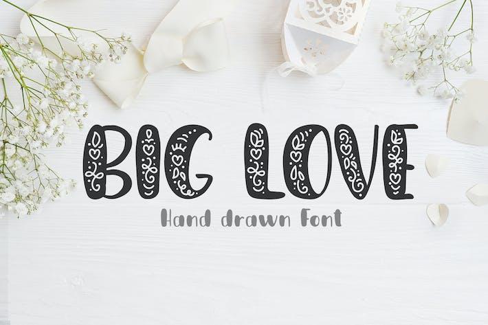 Fuente dibujada a mano Big Love