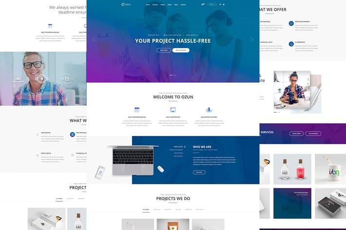 Cover Image For OZUN - PSD Template
