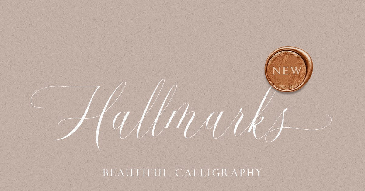 Download Hallmarks - Beautiful Calligraphy by letterhend