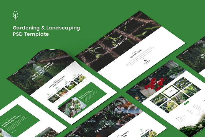 Thumbnail for Gardening, Lawn & Landscaping PSD Template
