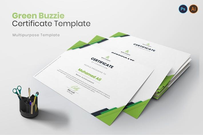 Thumbnail for Green Buzzie Zertifikat