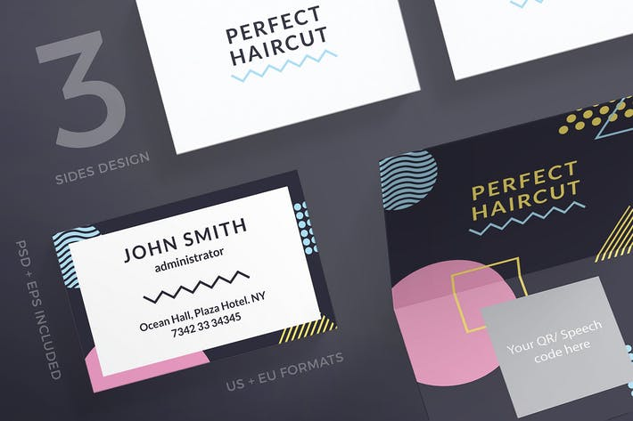 Thumbnail for Haircut Masterclass Business Card Template