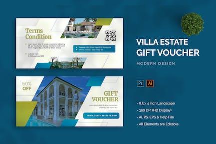 Villa Estate - Gift Voucher