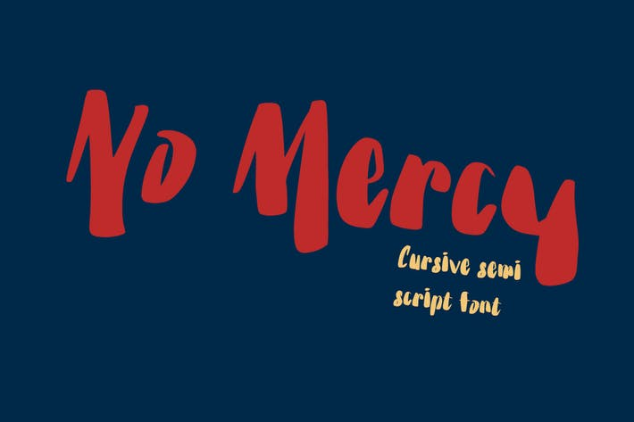 Thumbnail for No Mercy - 80s trend font