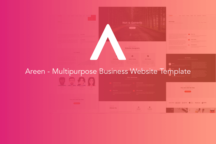 Thumbnail for Areen - Multipurpose Business Website Template