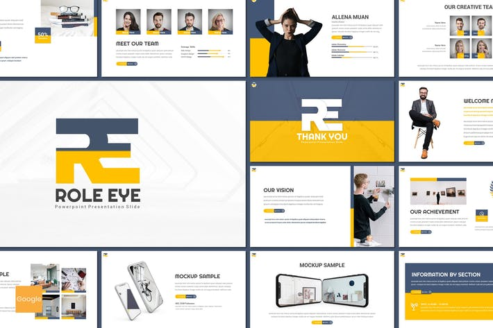 Thumbnail for Roll Eye - Бизнес Google Слайды Шаблон